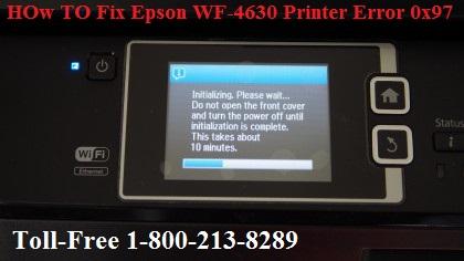 Fix Epson WF-4630 Printer Error 0x97