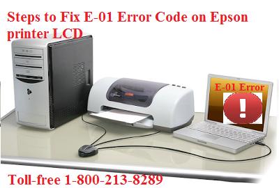 Steps to Fix E-01 Error Code on Epson printer LCD