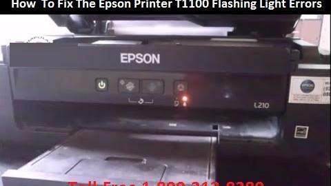 How To Fix The Epson Printer T1100 Flashing Light Errors
