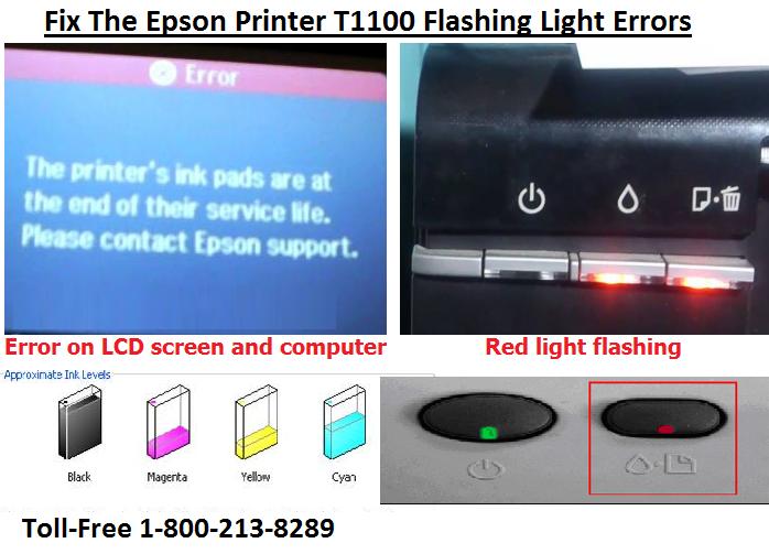 Steps To Fix The Epson Printer T1100 Flashing Light Errors