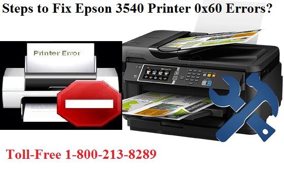 Fix Epson printer error 0x60 error