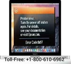 How to Fix Epson printer error code 0x97 MacBook pro