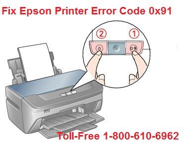 Epson Printer Error Code 0x91