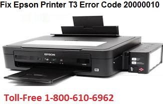 Fix Epson Printer T3 Error Code 20000010