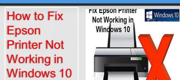 Fix Epson Printer Error in Windows 10