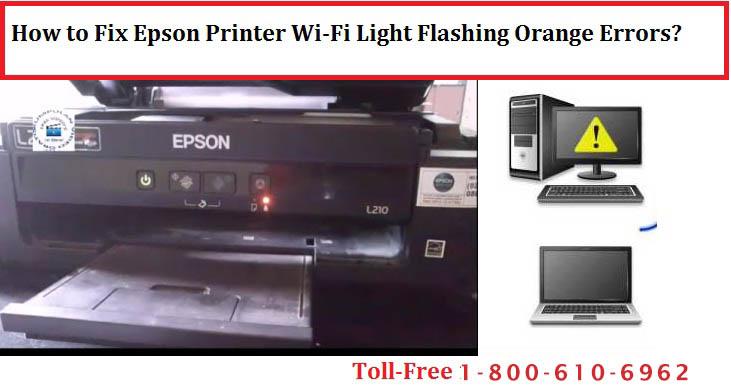 Epson Printer Wi-Fi Light Flashing Orange Errors