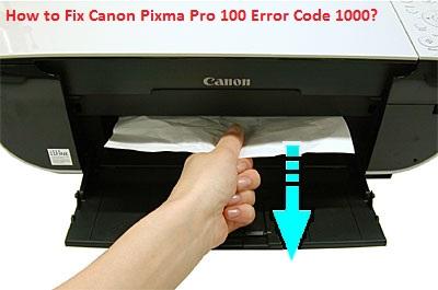 Canon Pixma Pro 100 Error Code 1000 no paper
