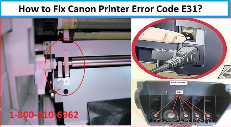 Canon Printer connection Error E31