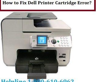 How to Fix Dell Printer Cartridge Error