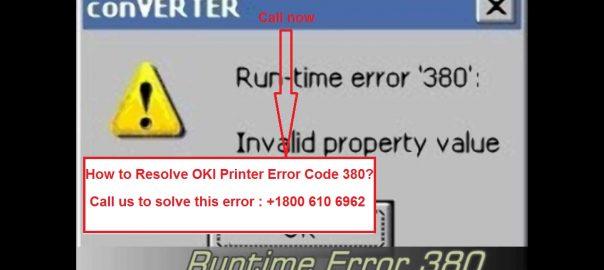 Oki Printer Error code 380