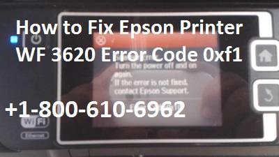 Epson Printer WF 3620 Error Code 0xf1