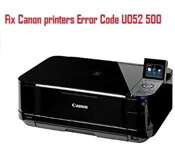 Canon printers Error Code U052 500
