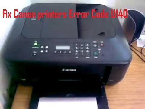 Fix Canon printers Error Code U140