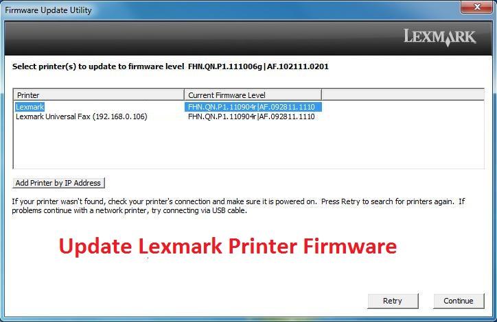 Update Lexmark Printer Firmware