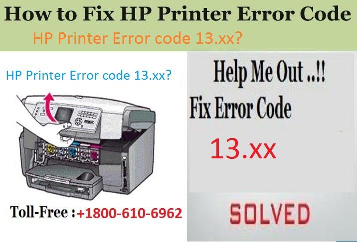 HP Printer Error code 13.xx?