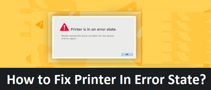 Printer in Error State